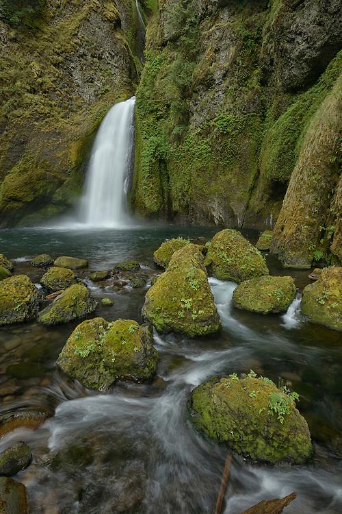 Wahclella Falls,Columbia River Gorge National Scenic  Area,Multnomah County,Oregon, USA
