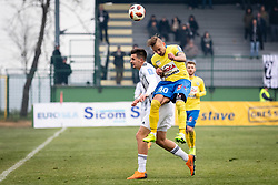 Šušnjara and Vidmajer during football match between NŠ Mura and NK Celje in 18th Round of Prva liga Telekom Slovenije 2018/19, on December 2, 2018 in Fazanerija, Murska Sobota, Slovenia. Photo by Blaž Weindorfer / Sportida