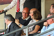 John Still, Manager of Luton Town (centre) watches from the stands during the Pre Season Friendly match at the London Borough of Barking and Dagenham Stadium, London<br /> Picture by David Horn/Focus Images Ltd +44 7545 970036<br /> 22/07/2014