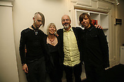 Blake Viola, Kira Viola, Bill Viola and Andrei Viola, VIP opening of Bill Viola exhibition Love/Death: The Tristan project. Haunch of Venison, St Olave's College, Tooley St. London and Dinner afterwards at Banqueting House. Whitehall. 19 June 2006. ONE TIME USE ONLY - DO NOT ARCHIVE  © Copyright Photograph by Dafydd Jones 66 Stockwell Park Rd. London SW9 0DA Tel 020 7733 0108 www.dafjones.com