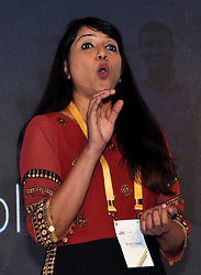 June 13, 2017 - Kolkata, West Bengal, India - Shalini Girish, Director - Marketing Solutions, Google addressing during Google announces eastern region winners of Small Medium Business Heroes 2017 in Kolkata on June 13, 2017. (Credit Image: © Saikat Paul/Pacific Press via ZUMA Wire)