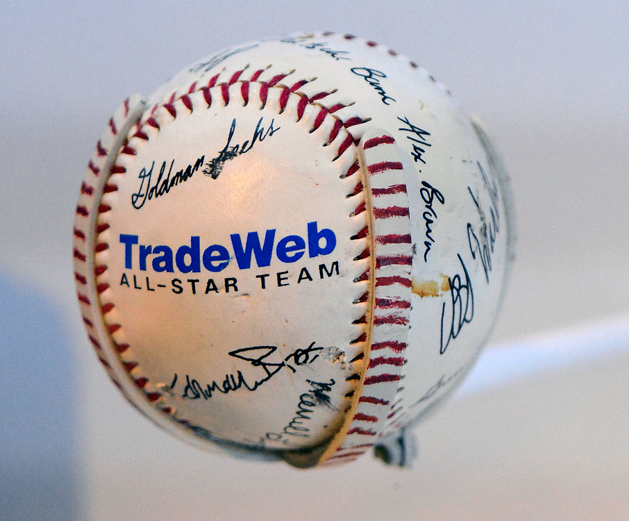 jt051917e/ sports/jim thompson/ A baseball that was found in the rubble of the World Trade Centers that was from the 52nd floor.   Friday May. 19, 2017. (Jim Thompson/Albuquerque Journal)