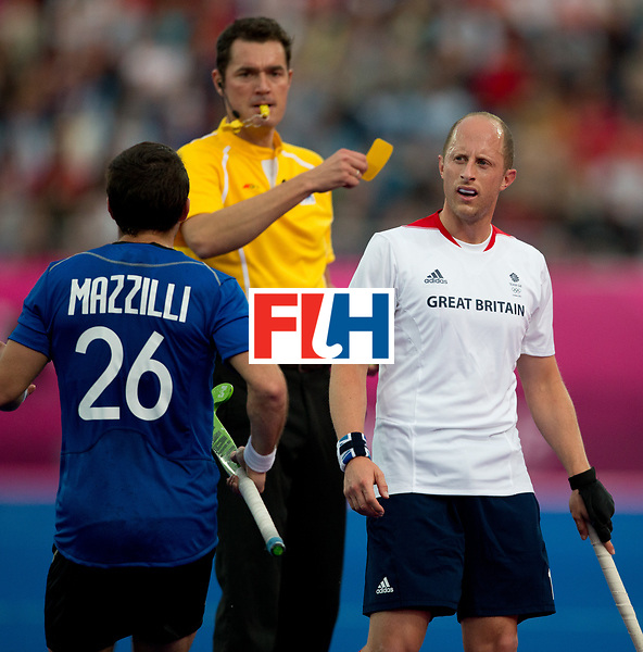 London Olympics 30072012.Mens Hockey, Argentina v Great Britain..Photo: Grant Treeby