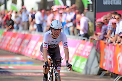 Jack Bobridge (AUS) Trek-Segafredo crosses the finish line of Stage 1 of the 2016 Giro d'Italia, an individual time trial of 9.8km around Apeldoorn, The Nethrerlands. 6th May 2016.<br /> Picture: Eoin Clarke | Newsfile<br /> <br /> <br /> All photos usage must carry mandatory copyright credit (© Newsfile | Eoin Clarke)