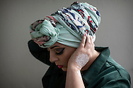 Hijabistas. Imane Aldebe, 32 years, born in Sweden, living in Stockholm. Designer that makes turbans and owns the brands Happy Turbans and Iman Aldebe Haute. She also created a veil for the Swedish police. She wants to modernize the islamic image of women through fashion. <br /> <br /> &quot;Fashion can be political and start debates. When it comes to intergration I believe fashion is a more effective way for change than any political labour-market act. I started to modernize the veil when I realized how hard it is to get a job as a Muslim woman in veil. You're not seen as an individual with feelings and thoughts, so I wanted to highlight individuality. It worked. Girls got jobs dressed in my design. Fashion can open many doors.&quot; Iman Aldebe