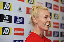NEWPORT, WALES - Monday, September 2, 2019: Wales' captain Sophie Ingle during a press conference at Rodney Parade ahead of the UEFA Women Euro 2021 Qualifying Group C match against Northern Ireland. (Pic by David Rawcliffe/Propaganda)