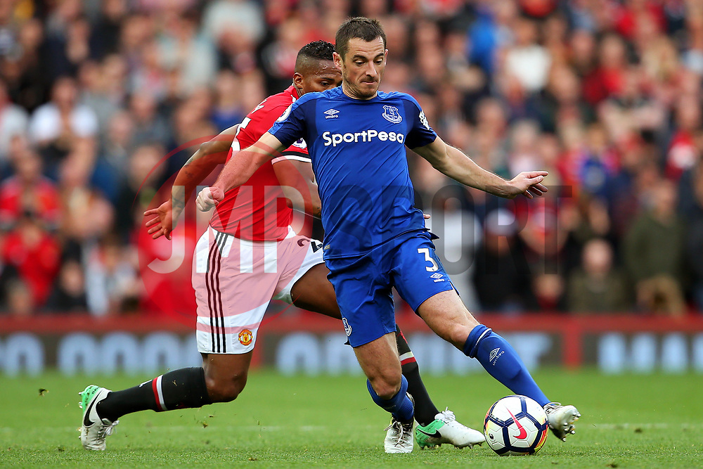 Leighton Baines of Everton and Luis Antonio Valencia of Manchester United - Mandatory by-line: Matt McNulty/JMP - 17/09/2017 - FOOTBALL - Old Trafford - Manchester, England - Manchester United v Everton - Premier League