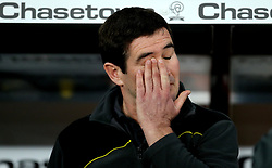 Burton Albion manager Nigel Clough rubs his eye - Mandatory by-line: Robbie Stephenson/JMP - 21/02/2017 - FOOTBALL - iPro Stadium - Derby, England - Derby County v Burton Albion - Sky Bet Championship