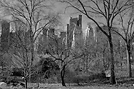 New York . Central park and the skyline  of central park south . Manhatan,/  Central park  and skyline  Manhatan,