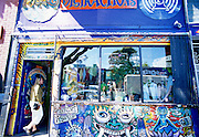 Image of a storefront in the Haight-Ashbury district, San Francisco, California, America west coast