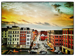 """Fleet Street at dawn, Portsmouth, New Hampshire. iPhone photo - suitable for print reproduction up to 8"""" x 12"""""""