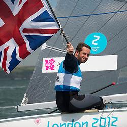2012 Olympic Games London / Weymouth<br /> Finn Medal Race<br /> Ainslie Ben, (GBR, Finn) gold medal winner