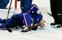 Laurent Meunier - 03.05.2015 - France / Suisse - Championnat du Monde de Hockey sur Glace -Prague <br />Photo : Xavier Laine / Icon Sport