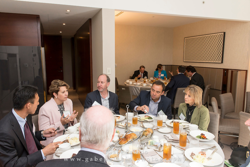 Roundtable discussions over lunch at The Wall Street Journal 2016 GLOBAL FOOD FORUM in New York City on October 6, 2016. (photo by Gabe Palacio)