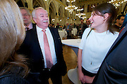 Vienna, Austria. Cocktail reception hosted by Mayor Michael Häupl at City Hall for international scientists and researchers living and working in Vienna.<br /> Michael Häupl, Mayor of Vienna.