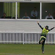 Qanita Jalil can't prevent a boundary as a six is hit by Suzie Bates in front of the media box during the match between New Zealand and Pakistan in the Super 6 stage of the ICC Women's World Cup Cricket tournament at Drummoyne Oval, Sydney, Australia on March 19, 2009. New Zealand won the match by 223 runs. Photo Tim Clayton
