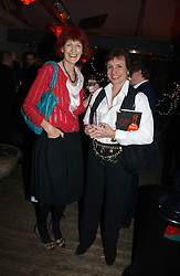 Left to right, VALERIE GOAD and LADY BOOTHBY at a party to celebrate the publication of Tom Sykes's book 'What Did I Do Last Night?' held at Centuary, Shaftesbury Avenue, London on 16th January 2007.<br /><br />NON EXCLUSIVE - WORLD RIGHTS