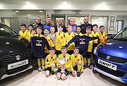 Ferry Athletic 2004s have received new strips and training tops from sponsors West End Suzuki of Brook Street Broughty Ferry, Pictured with the players are Brian Hutchison (coach), Paul Chew (manager), Marc Watson-Gray (West end Suzuki marketing manager) Kevin Boath (coach) and  Leonard Stracey (coach)<br /> <br />  - &copy; David Young - www.davidyoungphoto.co.uk - email: davidyoungphoto@gmail.com