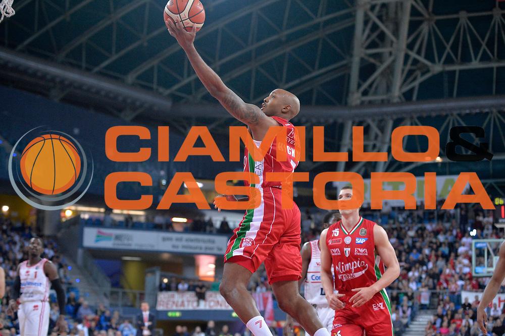 Richard Ricky Hickman<br /> Consultinvest Victoria Libertas Pesaro - EA7 Emporio Armani Olimpia MIlano<br /> Lega Basket Serie A 2016/2017<br /> Pesaro, 30/04/2017<br /> Foto M.Ceretti / Ciamillo - Castoria