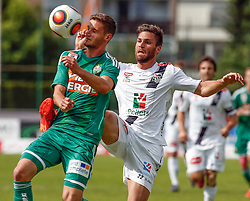 31.05.2015, Stadion Wolfsberg, Wolfsberg, AUT, 1. FBL, RZ Pellets WAC vs SK Rapid Wien, 35. Runde, im Bild v.l. Louis Schaub (SK Rapid Wien) und Manuel Seidl (RZ Pellets WAC) // during the Austrian Football Bundesliga 35th Round match between RZ Pellets WAC and SK Rapid Vienna at the Stadium Wolfsberg in Wolfsberg Austria on 2015/05/31, EXPA Pictures © 2015, PhotoCredit: EXPA/ Wolfgang Jannach