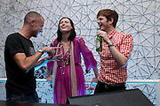 Sophie Ellis Bextor; Richard Jones, Launch of all new Jaguar XJ - Thursday 9th July, Saatchi Gallery. London. 9 July 2009.