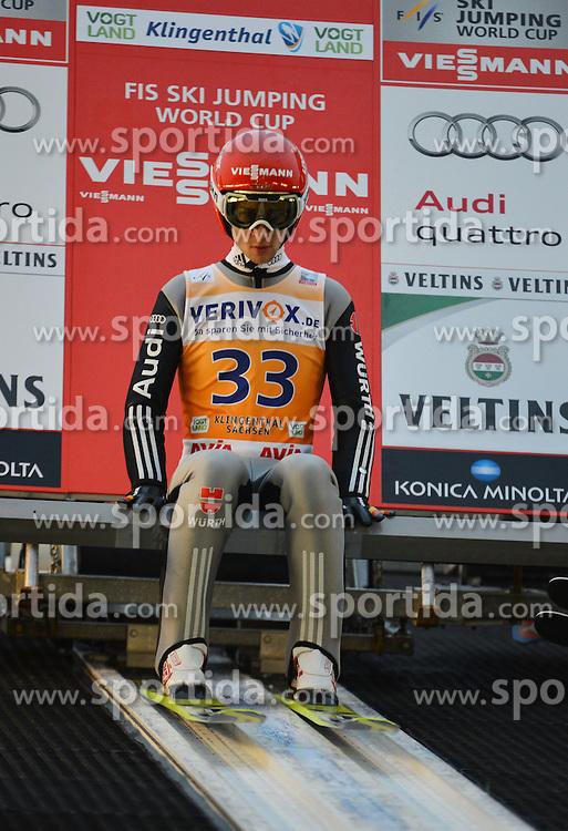 21.11.2014, Vogtland Arena, Klingenthal, GER, FIS Weltcup Ski Sprung, Klingenthal, Herren, HS 140, Qualifikation, im Bild Markus Eisenbichler (GER) // during the mens HS 140 qualification of FIS Ski jumping World Cup at the Vogtland Arena in Klingenthal, Germany on 2014/11/21. EXPA Pictures &copy; 2014, PhotoCredit: EXPA/ Eibner-Pressefoto/ Harzer<br /> <br /> *****ATTENTION - OUT of GER*****