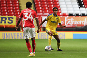 AFC Wimbledon defender Toby Sibbick (20) dribbling during the EFL Trophy match between Charlton Athletic and AFC Wimbledon at The Valley, London, England on 4 September 2018.