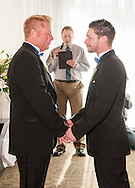 A civil union ceremony at the Limelight Hotel during Gay Ski Week in Aspen, Colorado.