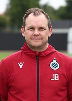 KNOKKE-HEIST, BELGIUM - JULY 10: John Besell, video analyst of Club Brugge, during the 2019 - 2020 season photo shoot of Club Brugge on July 10, 2019 in Knokke-Heist, Belgium. (Photo by Vincent Van Doornick/Isosport)
