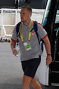 Ben Currie of England arrives the Rugby League World Cup Quarter-Final match between England and  Papua New Guinea at Melbourne Rectangular Stadium, Melbourne, Australia on 19 November 2017. Photo by Mark  Witte.