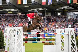Schwizer Pius, SUI, Cortney Cox<br /> CHIO Aachen 2019<br /> Weltfest des Pferdesports<br /> © Hippo Foto - Stefan Lafrentz<br /> Schwizer Pius, SUI, Cortney Cox