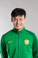 Portrait of Chinese soccer player Zhang Yan of Beijing Sinobo Guoan F.C. for the 2017 Chinese Football Association Super League, in Benahavis, Marbella, Spain, 18 February 2017.