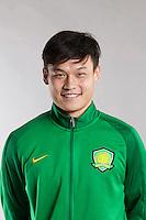 Portrait of Chinese soccer player Zhang Yan of Beijing Sinobo Guoan F.C. for the 2017 Chinese Football Association Super League, in Benahavis, Marbella, Spain, 18 February 2017.
