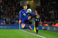Luke Garbutt of Everton in action. Barclays Premier League match, Stoke city v Everton at the Britannia Stadium in Stoke on Trent , Staffs on Wed 4th March 2015.<br /> pic by Andrew Orchard, Andrew Orchard sports photography.