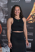 Portia Woodman represents Black Ferns Sevens – 2018 Sevens Rugby World Cup, San Francisco for The Māori in World Champion Team award at the 28th Aotearoa Māori Sports Awards, Vodafone Events Centre, Manukau, Auckland, New Zealand, Saturday, November 24, 2018. Copyright photo: David Rowland / www.photosport.nz