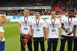 24.05.2015, Voith Arena, Heidenheim, GER, 2. FBL, 1. FC Heidenheim vs FC Erzgebirge Aue, 34. Runde, im Bild Ehrung der A Jugendmeister // during the 2nd German Bundesliga 34th round match between 1. FC Heidenheim vs FC Erzgebirge Aue at the Voith Arena in Heidenheim, Germany on 2015/05/24. EXPA Pictures © 2015, PhotoCredit: EXPA/ Eibner-Pressefoto/ Langer<br /> <br /> *****ATTENTION - OUT of GER*****