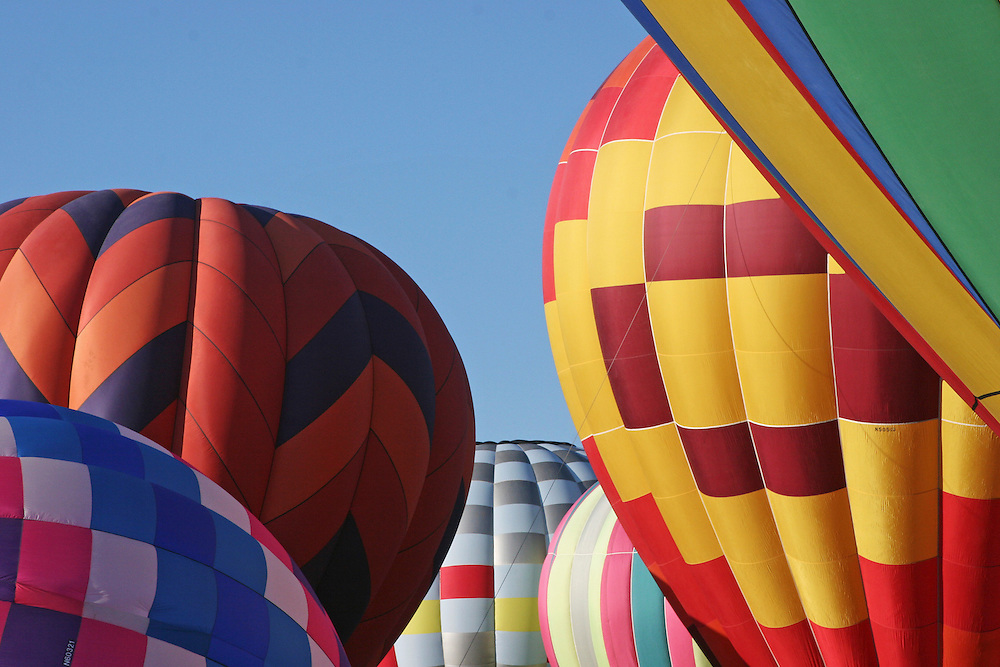 Group of Hot Air Balloons ready for lift off.