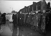 Unveiling of Plaque at Boland's Mills. President Eamon de Valera unveils a plaque to commemorate the 1916 Rising at Bolands Mills, where he was Commandant during the insurrection.<br /> 15.04.1966