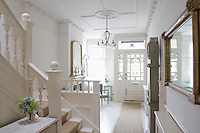 Entrance hall with ceiling rose London