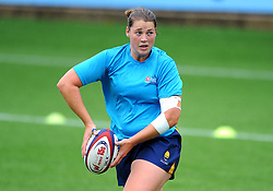 Stacey Maguire of Worcester Valkyries warms up ahead of kick -off - Mandatory by-line: Nizaam Jones/JMP - 22/09/2018 - RUGBY - Sixways Stadium - Worcester, England - Worcester Valkyries v Richmond Women - Tyrrells Premier 15s