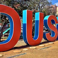 Dushi Sign in Punda, Eastside of Willemstad, Cura&ccedil;ao  <br />