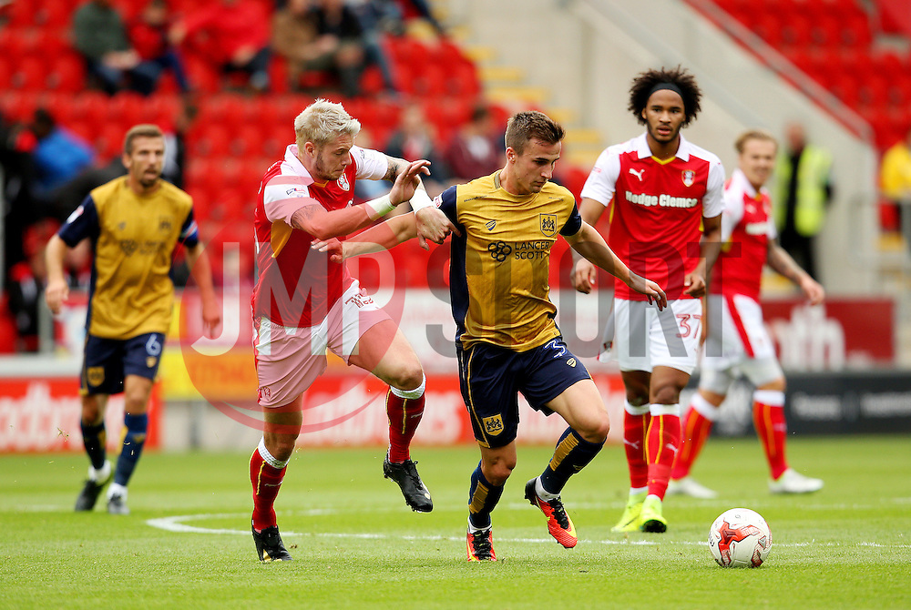 Joe Bryan of Bristol City is chased by Greg Halford of Rotherham United  - Mandatory by-line: Matt McNulty/JMP - 10/09/2016 - FOOTBALL - Aesseal New York Stadium - Rotherham, England - Rotherham United v Bristol City - Sky Bet Championship