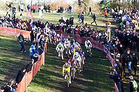 ILLUSTRATION DEPART COURSE HOMMES ELITE -  - 11.01.2015 - Cyclo cross - Championnats de France Femmes - Pontchateau<br /> Photo : Vincent Michel / Icon Sport