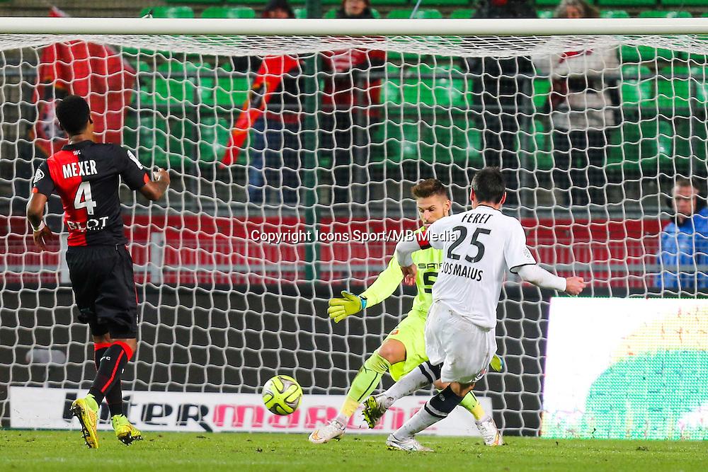 3EME BUT CAEN Julien FERET  - 25.01.2015 - Rennes / Caen  - 22eme journee de Ligue1<br /> Photo : Vincent Michel / Icon Sport *** Local Caption ***