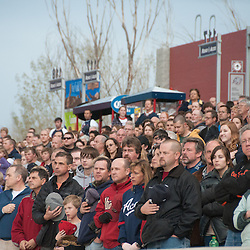 Fans during the National Anthem, 2011. Photo by David Calvert/Reno Aces