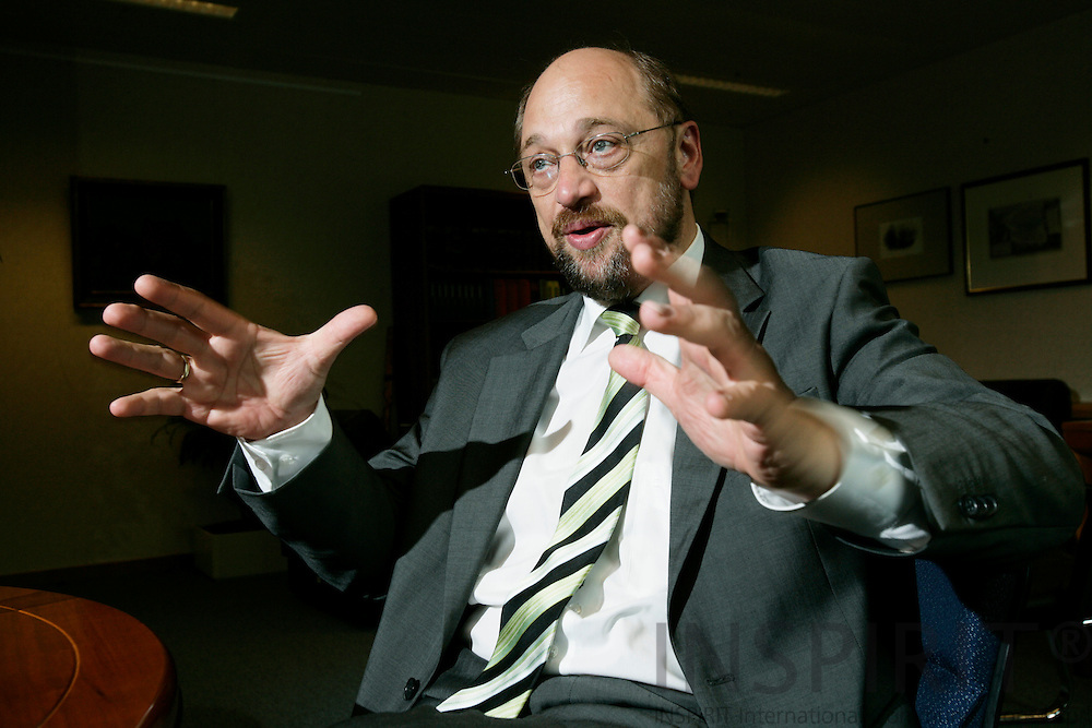 BRUSSELS - BELGIUM - 14 JUNE 2007 -- MEP Martin SCHULZ, the PSE Group. Photo: Erik Luntang