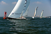 12 Meter Class America II racing in the Liberty Race at New York Classic Week.
