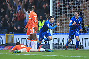 GOAL Ollie Rathbone celebrates scoring 1-0 during the EFL Sky Bet League 1 match between Rochdale and Blackpool at Spotland, Rochdale, England on 26 December 2018.
