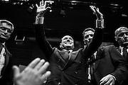 Silvio Berlusconi durante il comizio di chiusura della campagna elettorale per l'elezioni Europee 2014 di Forza Italia, Roma 22 maggio 2014.  Christian Mantuano / OneShot<br /> <br /> Silvio Berlusconi waves at supporters in Rome during a rally in support of the party's candidates for the upcoming European elections to be held from May 22 to May 25,<br /> Rome 22 may 2014.  Christian Mantuano / OneShot