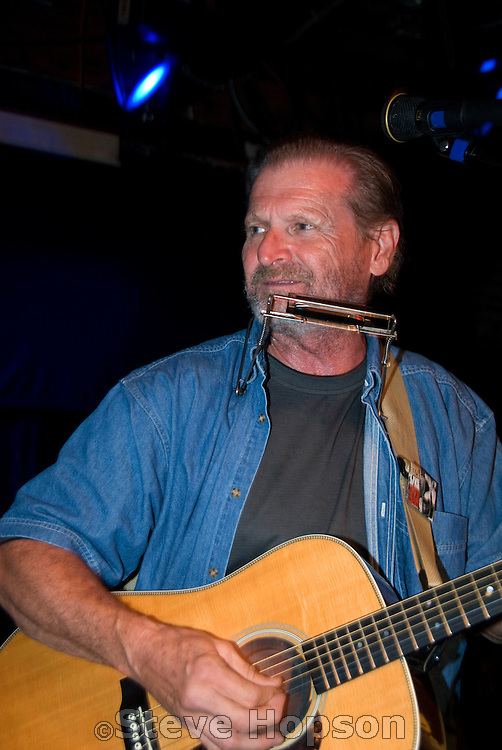 "Butch Hancock at the benefit for Jesse ""Guitar"" Taylor at Antone's in Austin Texas, April 10, 2008."